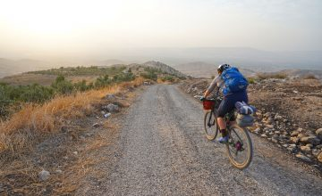 Hike and Bike in Um Qais Trails & lunch with a local family